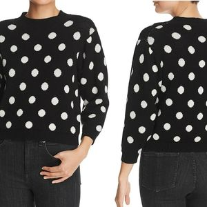 🐞Almost famous black polka dot pullover sw